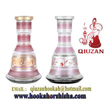 Medium Pink Stripes Mya Shisha Hookah Bottle