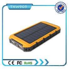 Dual USB Akku Ladegerät Externe Backup Portable Solar Power Bank 10000mAh Power Bank für Handy