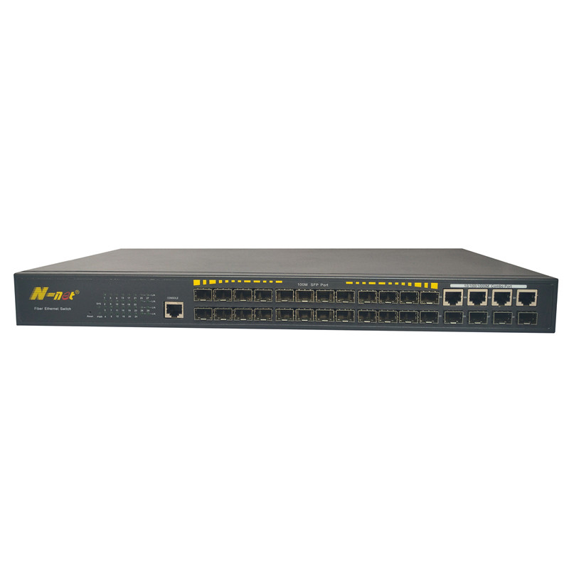 24 Ports L2 10 / 100M Switched POE Switch