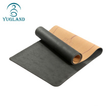 Best price and comfortable nature Yugland eco-friendly cork rubber yoga mat