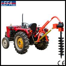 Máquinas de escavação terrestres portáteis Tractor Post Hole Digger