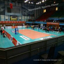 Plancher sport professionnel en volleyball en PVC
