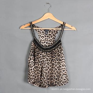 Mulher Moda Top Verão Cuasual Ldies Blusa