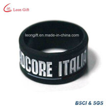 Black Color Inject Logo Silicone Wristband