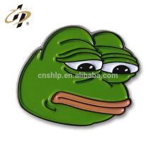 Perno triste de China de la solapa de la historieta del metal del esmalte de la rana de Pepe de la aduana barata al por mayor