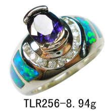 Créé par bijoux Opale Silver ou bague en laiton (TLR256)