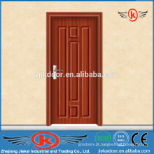 JK-P9054 portas de PVC modernas de madeira maciça