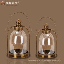 linterna de velas antigüedad imitación vela linterna de vidrio y la vela de hierro linterna