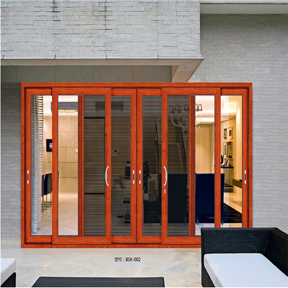 Sliding door with security screen and sound Isulation