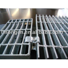 Fixation des clips d'installation en grille en acier