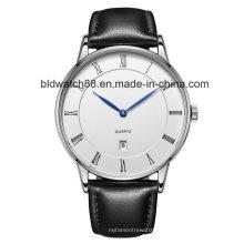 Relógios de pulso redondos clássicos dos pares dos pares do projeto para amantes