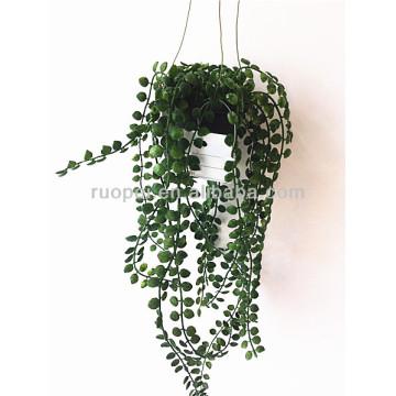 Yiwu high imitation mini artificial hanging potted bonsai