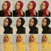 Nuevo 46colors stocked maxi oversize head wraps hijabs chales personalizado viscosa premium algodón arruga llanura bufanda hijab