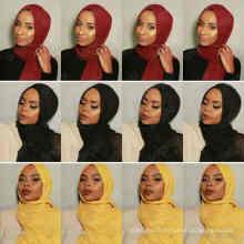 Nouveau 46colors Stocked maxi oversize tête enveloppes hijabs châles personnalisé viscose premium coton froissé plaine hijab écharpe