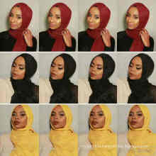 New 46colors Stocked maxi oversize head wraps hijabs shawls custom viscose premium cotton crinkle plain hijab scarf