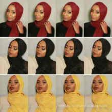 Новый 46colors укомплектованный макси негабаритных глава обертывания хиджабы платки на заказ вискоза хлопок премиум извилиной равнина хиджаб шарф