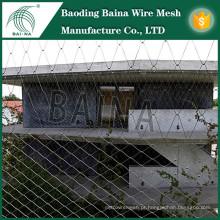 Fachadas exteriores Decorar Fenda de malha de arame / Decoração de metal Fenda de malha / proteção externa Fibra de arame tecido