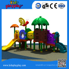 Balanço de plástico engraçado e Slides Playground ao ar livre para crianças