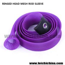 Ringed Head Mesh Rod Sleeve Rod Sock