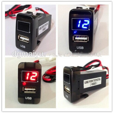 3 Digits Accuracy Car Dashboard Voltmeter Thermometer for Toyota