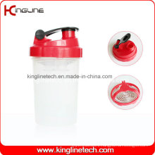 500ml Plastic Protein Shaker Bottle with Stainless Blender (KL-7006)