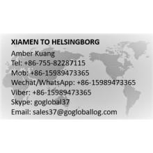 Fujian Xiamen to Sweden Helsingborg