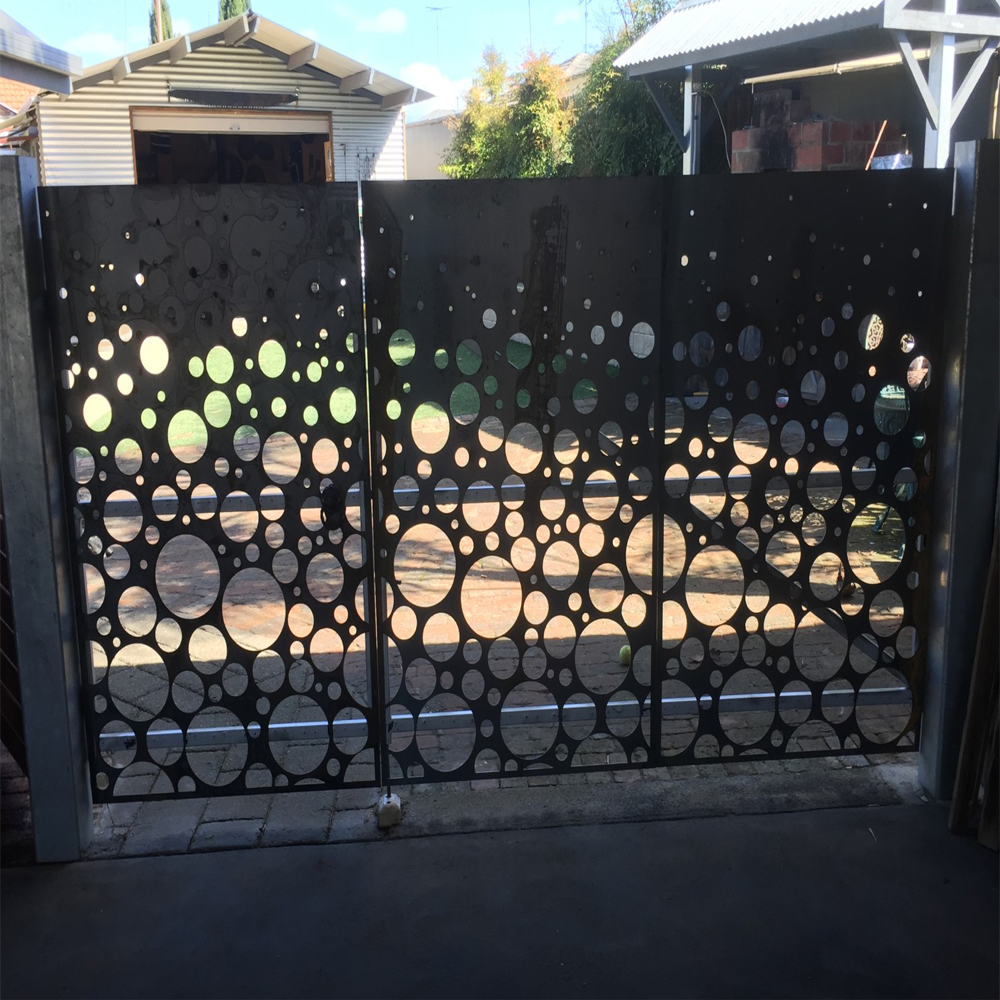 Metal Fence Panel with Gate