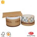 Round kraft paper belt storage cardboard box