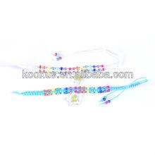 Hand-knitted four leaf clover bracelet/bangle