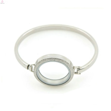 "Plain silver jewelry 7""-8"" inch stainless steel locket bracelet&bangle, classic cuff bangle"