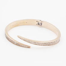 Bracelet directement fait sur commande d'acier inoxydable d'usine, manchette, bracelet avec Zirconia