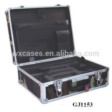 2014 nuevo diseño!!! caja de herramientas de aluminio fuerte y portátil con inserto de espuma medida interior fabricante