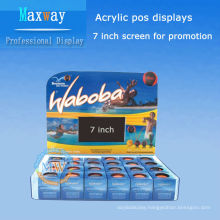 acrylic pos displays with 7 inch lcd screen for promotion