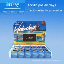 акриловые дисплеи POS с 7-дюймовый ЖК-экран для промотирования