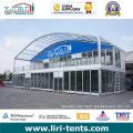 25 x 80m 2000 Menschen Arch Zelt mit Glaswand in Südafrika