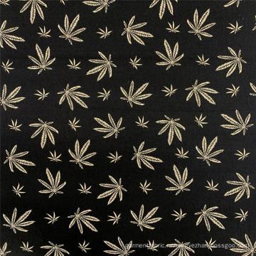Ткань для одежды в стиле вискозы с бенгальским принтом в виде кленовых листьев