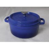 Blue Round Enamel Casserole