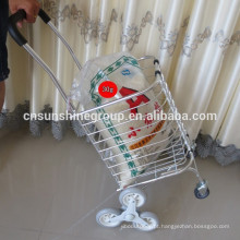 Carrinho portátil de alumínio de pouco peso, cesta com rodas