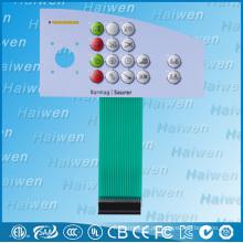 Interruptor de membrana impermeável PET com LEDs