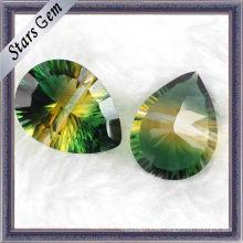 Cristal sintético cortado especial del milenio de la pera