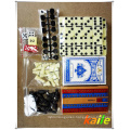 6 IN 1 big game set with leather box