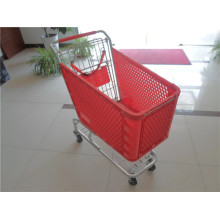 Plastic Supermarket Shopping Trolley