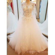 LS16651 Tulle new arrivals 2017 traditional wedding dresses pictures muslim dress long sleeves