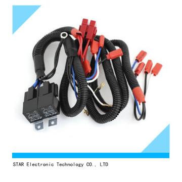 Harnais de fil d'antibrouillard de phare de phare de xénon de voiture d'automobile de la Chine usine H1 avec le relais de fusible DC 12V