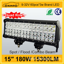 On sale 2015 new product four rows 15300LM 15'' 180W waterproof led strip