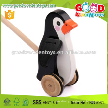 Baby Fun Time Pulling Along Penguin Toy Wooden Animal Toys