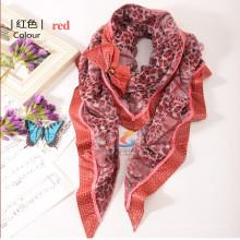 Lingshang новый дизайн женской чистой акриловой ручной работы вязаный треугольный прилагается bowknot шарф