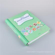 Carnet de notes de journal de poche d'impression de conception personnalisée