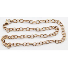 Manufacturer Direct Rose Gold 3mm Stainless Steel Cable Chain