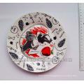 2014 best quality ceramic plate,full fancy artwork ceramic dinner side plates